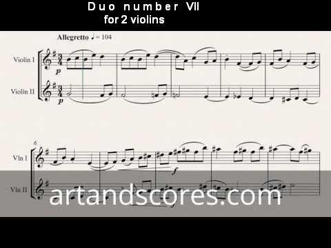 Artandscores   Duo número VII, para 2 violines
