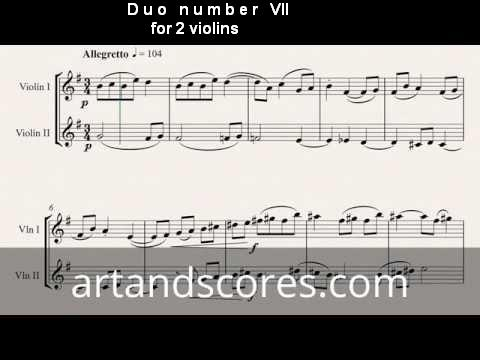 Artandscores | Duo number VII, for 2 violins