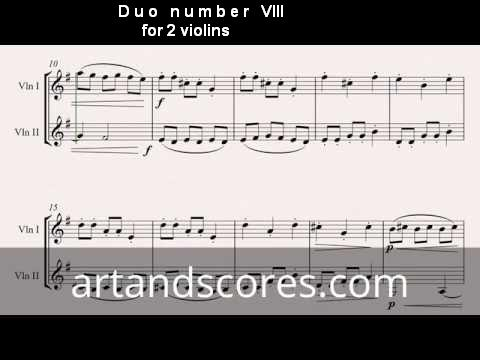 Artandscores   Duo número VIII, para 2 violines