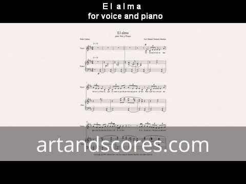 Artandscores | El alma, partitura para para voz y piano