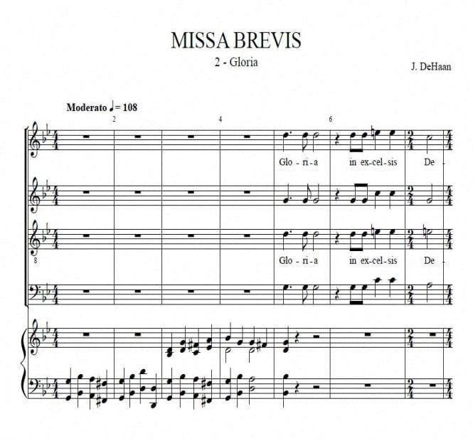 Gloria from Missa Brevis - Jacob de Haan