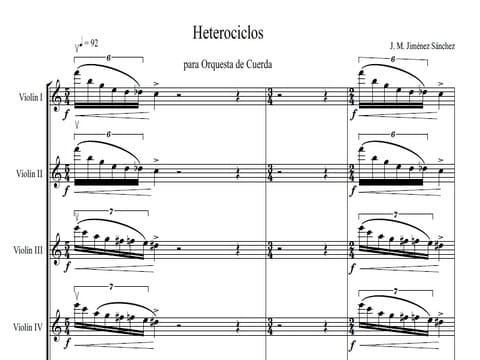 Artandscores | Heterocycles, string orchestra