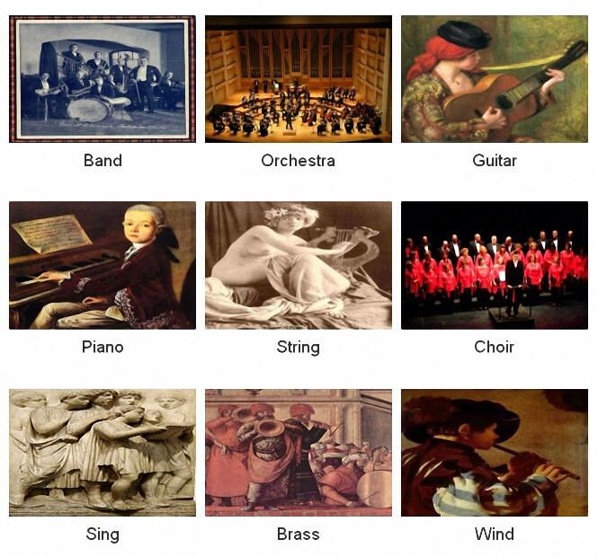 Instruments sheets music © artandscores.com