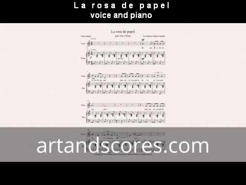 Artandscores | La rosa de papel, partitura para voz y piano