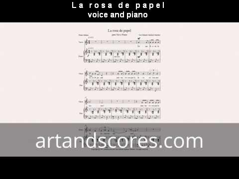 Artandscores | The paper rose, for voice and piano