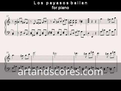Artandscores | Los payasos bailan, partitura para Piano