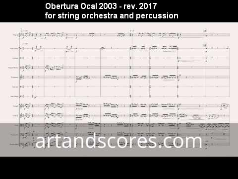 Artandscores | Overture OCAL 2003 - review 2017, for string orchestra and percussion