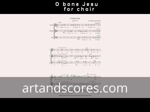 Artandscores | O bone Jesu, partitura para coro