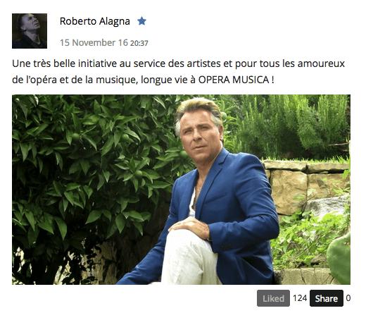 Opera Musica Roberto Alagna - artandscores.com