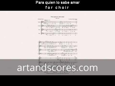 Artandscores | Para quien lo sabe amar, partitura para coro