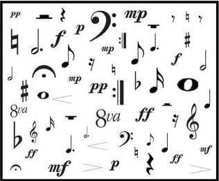 Artandscores | Sheet music symbols
