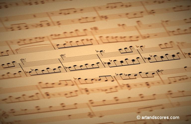 Sheet of music © artandscores.com