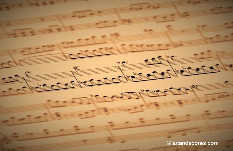 Sheet of music © artandscores.com