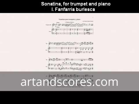 Artandscores | Sonatina, partitura para trompeta y piano I. Fanfarria burlesca