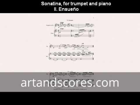 Artandscores | Sonatina, partitura para trompeta y piano II. Ensueño