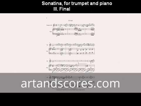 Artandscores | Sonatine, for trumpet and piano III. Final