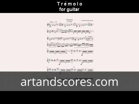 Tremolo, for guitar sheet music © Artandscores.com