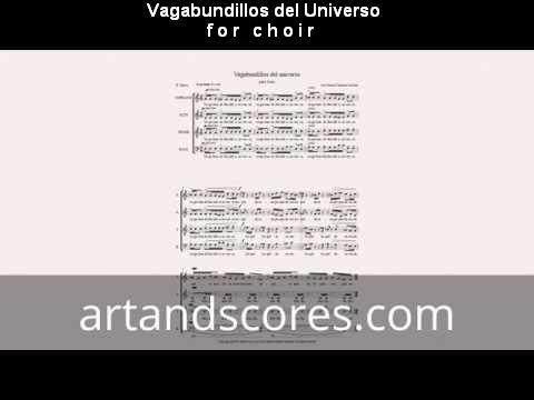 Artandscores | Vagabundillos del universo, partitura para coro