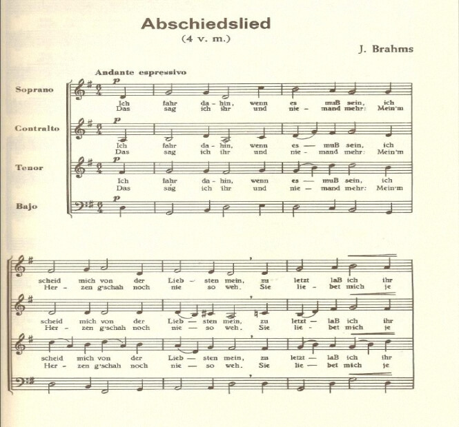 Artandscores | Abschiedslied - Johannes Brahms