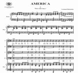 America - Leonard Bernstein | artandscores.com