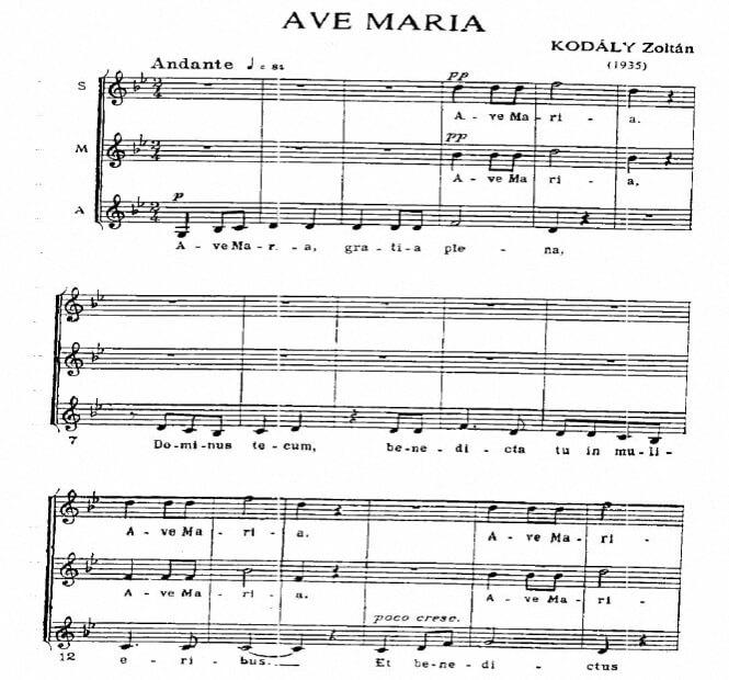 Artandscores |  Ave Maria - Z. Kodaly